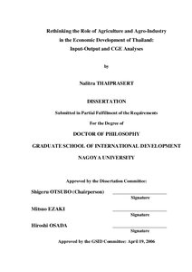 Phd thesis agricultural economics