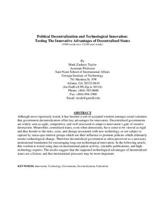advantages of decentralization