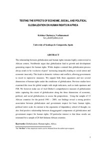 What are the social political and economic effects of globalization?