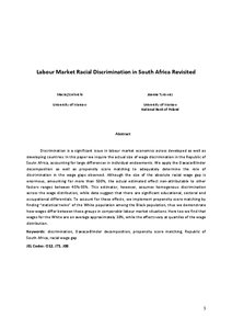 racial discrimination effect on labor market essay If you are writing a cause and effect essay on chinese students' discrimination in the united states, there are many facts that you might want to consider integrating into your work below is a short list of some recent developments, based on many scientific journals and studies these might be of use to anyone who needs to include useful information into their existing content, or who is.