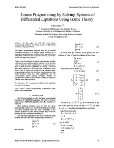 Linear Programming by Solving Systems of Differential Equations