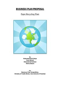 paper these recycling manufacturing unit industry plan