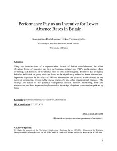 Essay on performance related pay