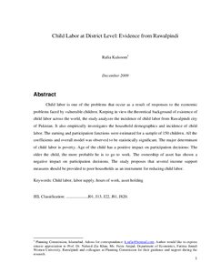 research paper on child labor in america Overview of bls research programs the bureau of labor statistics conducts research on many this page allows you to search for online bls research papers.
