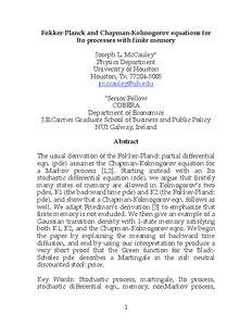 Fokker-Planck and Chapman-Kolmogorov equations for Ito processes