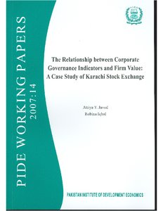 Relationship between Corporate Governance Indicators and