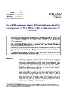 EU and US safeguards against Chinese textile exports: What