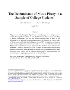 thesis about music piracy Music piracy research paper music piracy research paper critiquing a quantitative research paper thesis on learning styles using spss panda research paper outline.