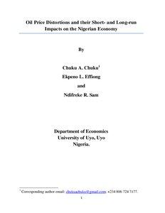 Nigerian roads: economic problems essay