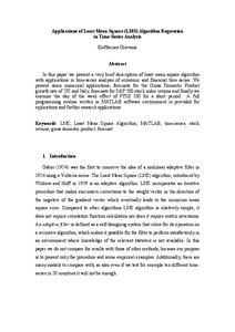Applications of Least Mean Square (LMS) Algorithm Regression