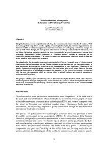 Education in developing countries essay