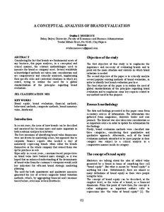 brand evaluation essay