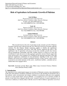 role of agriculture in development