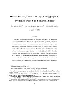 water scarcity in ethiopia pdf