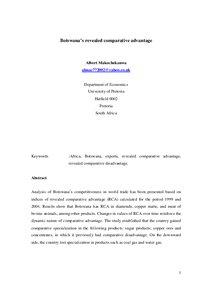 Comparative advantage essay