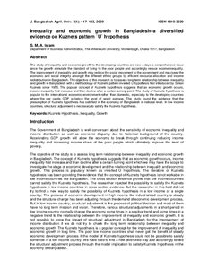 kuznets hypothesis analysis In this paper we will explore the history of the kuznets hypothesis performed analysis similar to kuznets' with results largely consistent with the kuznets.