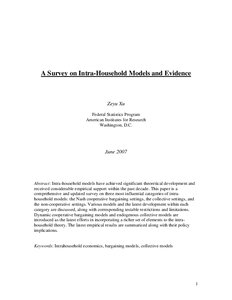 A survey on intra-household models and evidence - Munich