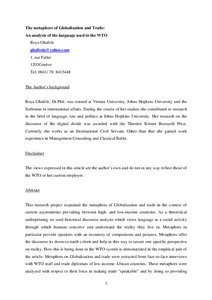 Research paper on world trade organization
