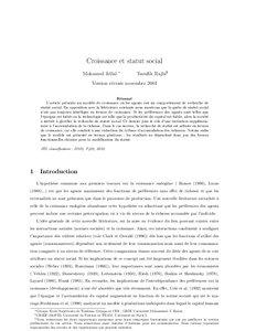 Dissertation croissance et changement social