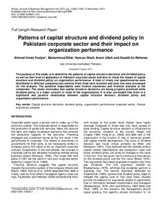 impact of capital structure and dividend Impact of ownership structure on dividend payout investors who prefer dividend instead of long-term capital gain this study also supports shareholders.