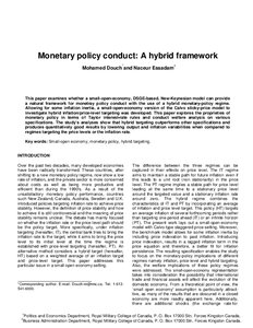 Monetary and fiscal policy essay
