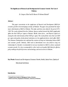 Research paper on pakistan economy
