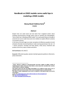Handbook on DSGE models: some useful tips in modeling a DSGE models