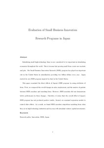 Small business research paper