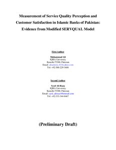Thesis on customer satisfaction in islamic banking