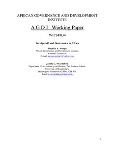 foreign aid africa essay An essay on the advantage and disadvantages of foreign aid on developing countries.