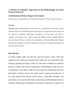 Social science research paper example