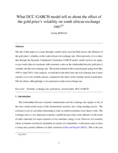 What DCC-GARCH model tell us about the effect of the gold