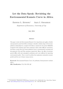 environmental kuznets curve theory