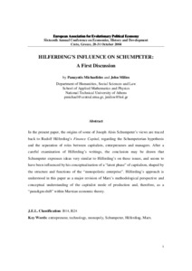 schumpeter's plea historical approaches to entrepreneurship We outline the arguments for why and how historical approaches are essential for understanding entrepreneurial processes our more ambitious agenda is to re -stimulate the exchange between historical and social scientific studies of entrepreneurship that schumpeter envisioned and at least briefly inspired in the decades.