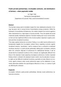 Distributional fairness definition essay