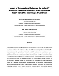 Masters thesis using job satisfaction survey jss