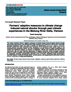 Farmers' adaptive measures to climate change induced natural shocks