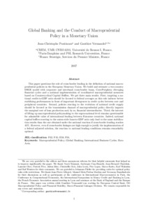 Global Banking and the Conduct of Macroprudential Policy in