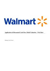 application of discounted cash flow model valuation wal mart