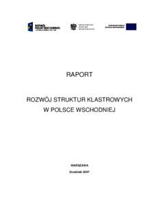 Rozwoj Struktur Klastrowych W Polsce Wschodniej Munich Personal