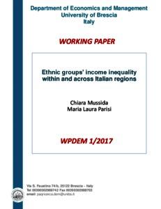Ethnic groups' income inequality within and across Italian