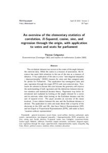An overview of the elementary statistics of correlation, R-squared