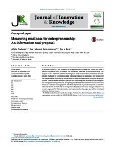 Measuring Readiness for Entrepreneurship: An Information