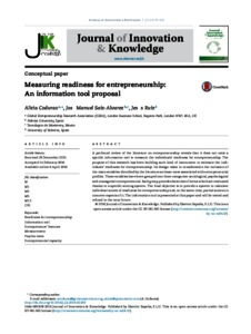Measuring Readiness for Entrepreneurship: An Information Tool